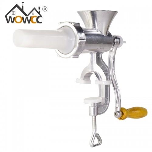 WOWCC Manual Meat Grinder Aluminum Alloy Noodles Grinding Machine Dishes Handheld Making Gadgets Mincer Pasta Maker