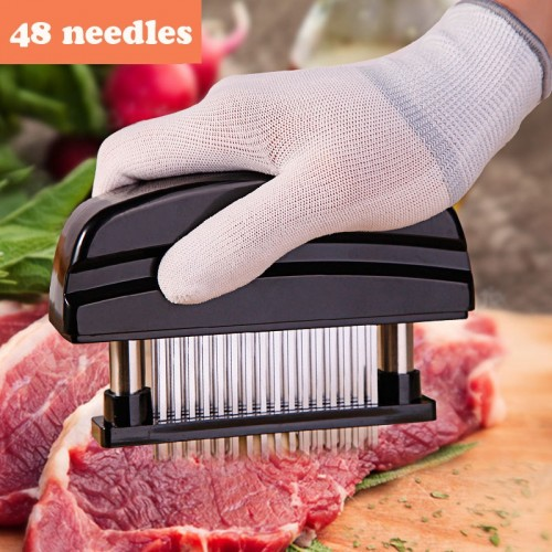 48 Blades Needle Meat Tenderizer Stainless Steel Knife Meat Beaf Steak Mallet Meat Tenderizer Hammer Pounder