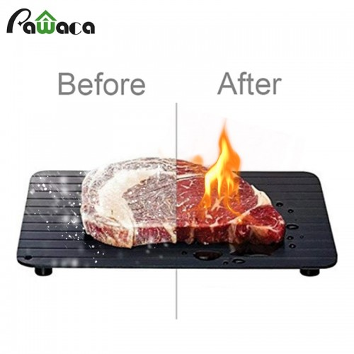 Fast Defrosting Tray for Frozen Food Thawing Plate Defrost Meat Fish in Minutes The Safety Way