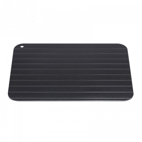 Metal Aluminum Fast Defrosting Tray Safe Food Meat Defrosting Thawing Tray Plate Home Kitchen Defrost Gadget