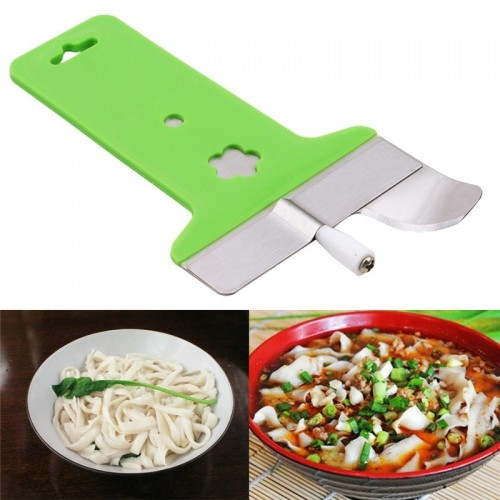 1 PCS Green Stainless Steel Noodles Dedicated Single sharp Noodles Slitting Machine Flour Dough Slicing Knife .jfif