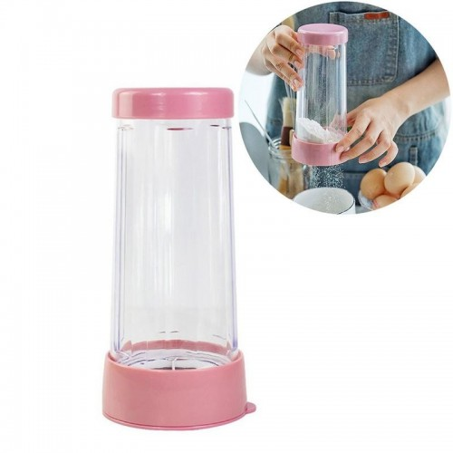 Plastic Manual Powder Sieve Cup Flour Filter Sugar Powder Sieve Powder Cup Baking Utensils Dusting Cup.jfif