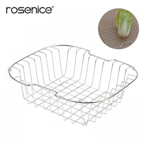 Professional Strainer Basket Dish Drying Rack Stainless Steel Over The Sink Colander for Kitchen.jfif