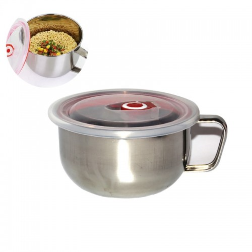 Stainless Steel Ramen Soup Pasta Bowl Noodle Bowl Induction Cooker Directly With Handle And Lid.jfif