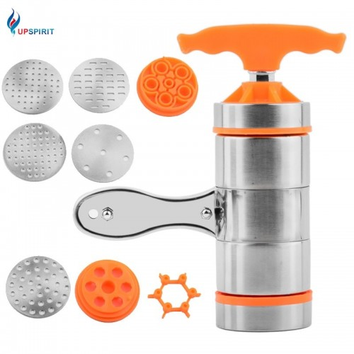 Upspirit Manual Stainless Steel Noodle Maker With Models Handy Kitchen Pasta Spaghetti Vegetable Fruit Pressing Machine.jfif