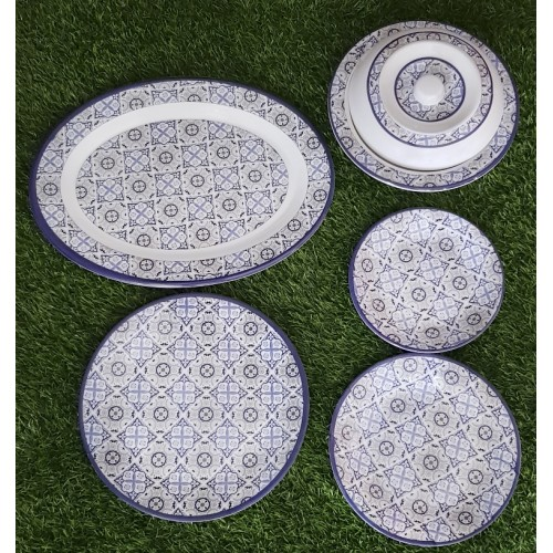 Set Of Five Glazed Melamine Home Kitchen High Quality Dinner Set