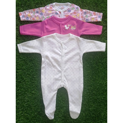 Pack Of Three Newborn Baby Romper 100% Cotton Costume Jumpsuit for Girls and Boys HIgh Quality