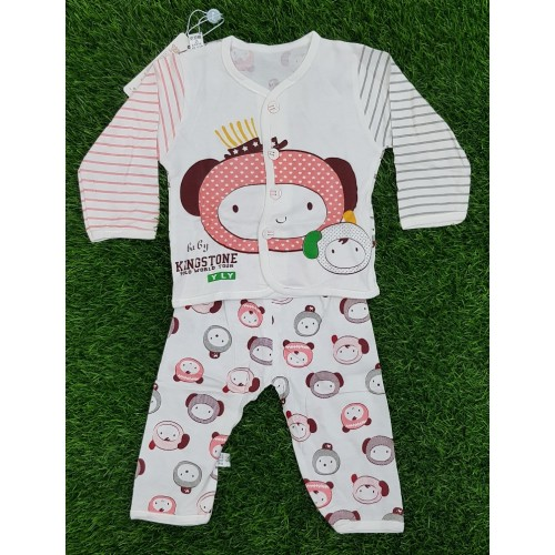 6 Months Baby 2 Piece Set Baby Dress Clothes Shirt Trouser Toddler Fashion Baby Outwear Cartoon Printed For Boy Girls