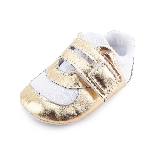 Shiny Gold Breathable Newborn Baby Shoes Unique Factory Cheap Price Toddler First Walkers