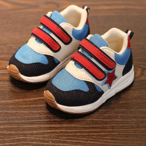 Solid high quality breathable light baby first walkers Perfect patch girls boys sneakers Elegant comfortable baby