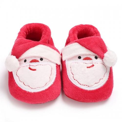 Toddler Baby Shoes Newborn Christmas Santa Claus Soft Sole Baby Girl Boy First Walkers Prewalker Girls