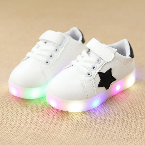 unisex stars colorful lighting up baby sneakers fantastic tennis baby excellent glowing girls boys toddlers