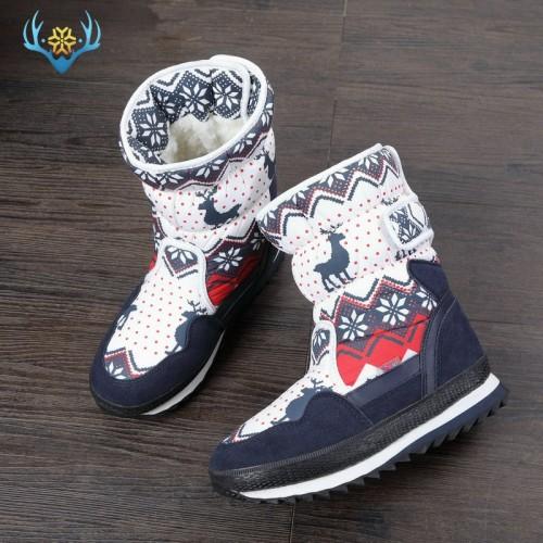 Girls Winter Boots Children snow boot kids new design Christmas shoes warm natural wool fur inside
