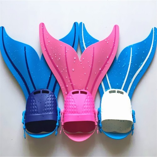 1PCS Mermaid Fins Swimming Foot Fins for Easy adjustable hook and loop strap Children s toy
