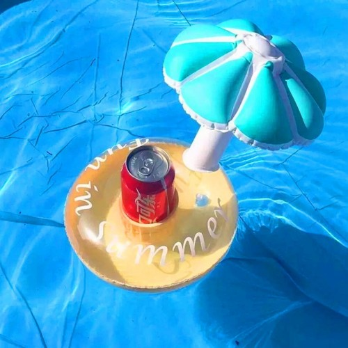 1pcs Mushroom Drink Holder Float Toy Swimming Pool Rafts Inflatable Floating Summer Beach Party