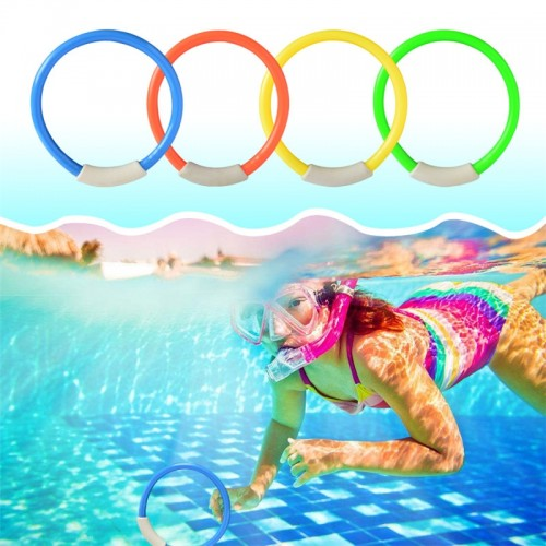4 Pcs Pack Child Kid Diving Ring Water Toys Swimming Pool Funny Creative Toys Swimming Toys