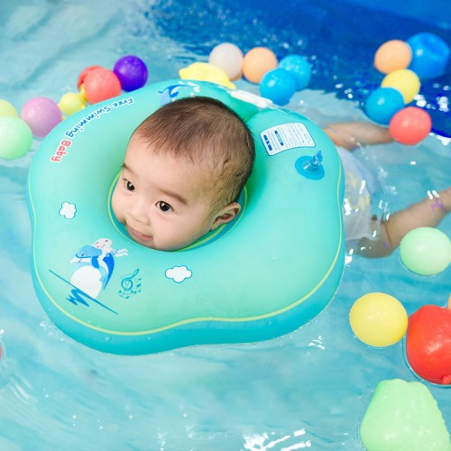 Baby Swiming Neck Ring Inflatable Pool Children Float Environmentally Friendly Soft Swimming Tube