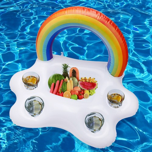 Ice Bucket Rainbow clouds Drink Holder Water Fun Toy Swimming Pool Rafts Inflatable Floating Summer Beach