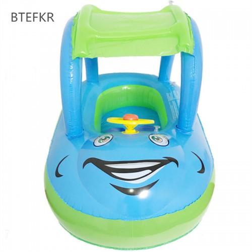 New Summer Bathing Newborns Float Boat Tube Car for Baby Swim Float Portable Inflatable