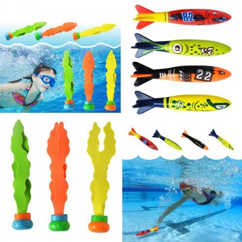 Shark Torpedo Rocket Throwing Toy Pool Game Toy Seaweed Grass Swimming Pool Beach Sticks Toys