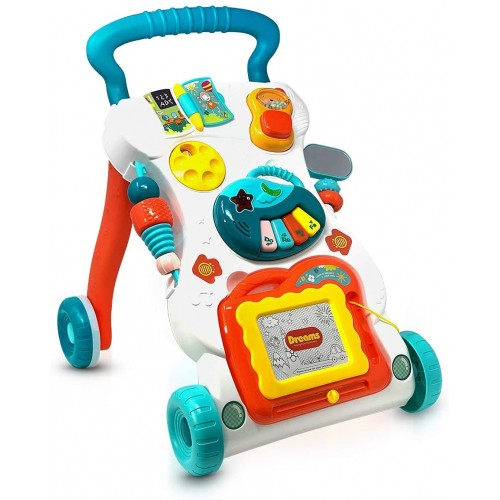 4 in 1 Baby Walker Toddler Push Music Walker Education Learning Toys