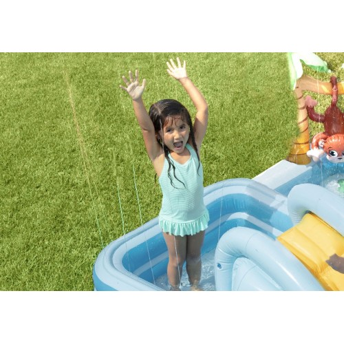 2.57m x 2.16m x 84cm Intex Jungle Adventure Play Center Inflatable Kiddie Spray Wading Pool