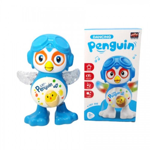 Electric Penguin Dancing Robot Toy For Kids With Music And Light