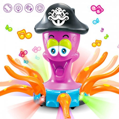 Captain Octopus Electric Interactive Toy With Music Lights Bump and Go Action