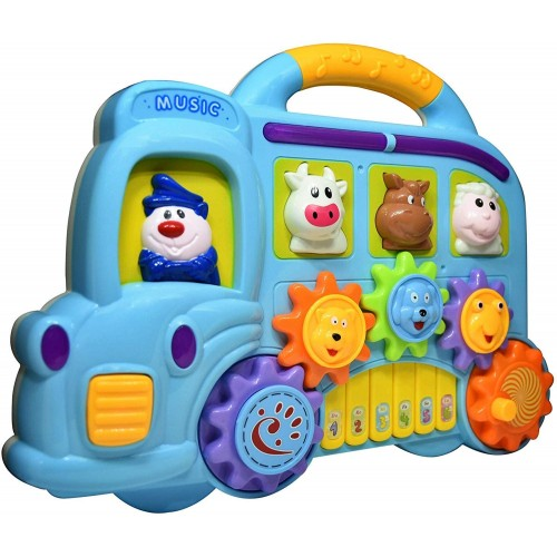 Car Piano With Light & Sound Animal Shapes Musical Creative Toy Play Game