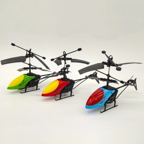 2 in 1 Helicopter 2 Channel Hand-Held Induction And Remote Control Rechargeable Toy