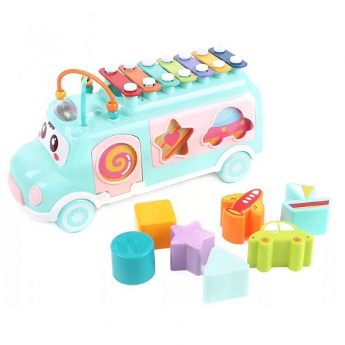 Milano MX010 Happy Bus Shape Xylophone For Kids Multi Color