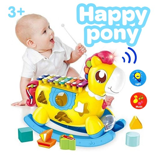 Happy Pony Musical Toy Kids Xylophone Toy with Light and Music