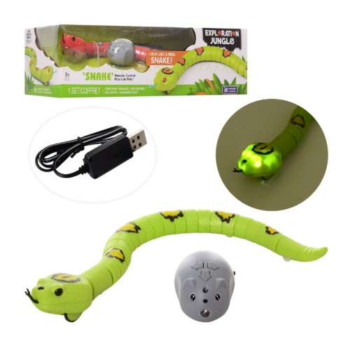 Jungle IR Remote Control Children Simulation Snake Electronic Toy