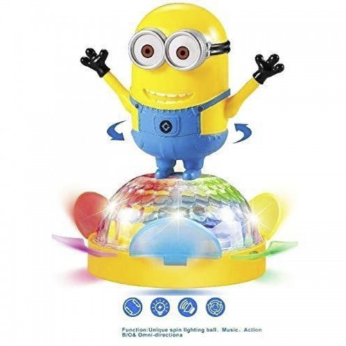 Battery Operated Unique Spin Musical Rotating Dancing Minions 4D lights & Sounds Toy