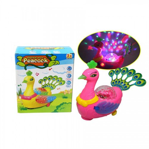 Electric Peacock Light and Music Toy For Kids