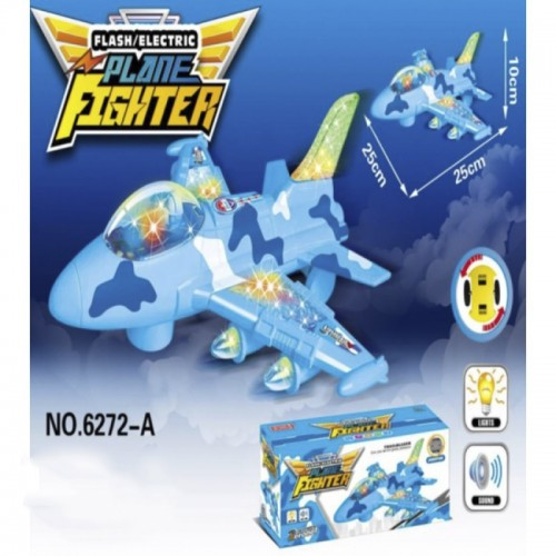 Flash Electric Airplane Plane Fighter Kids Play Music Lights Toy