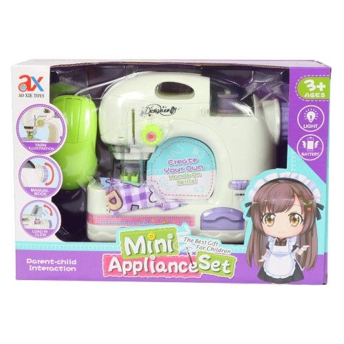 Electric Mini Sewing Machine With Mouse And Lights For Kids
