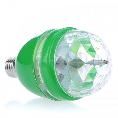 3W Auto Rotating LED Bulb Stage Light Party Disco