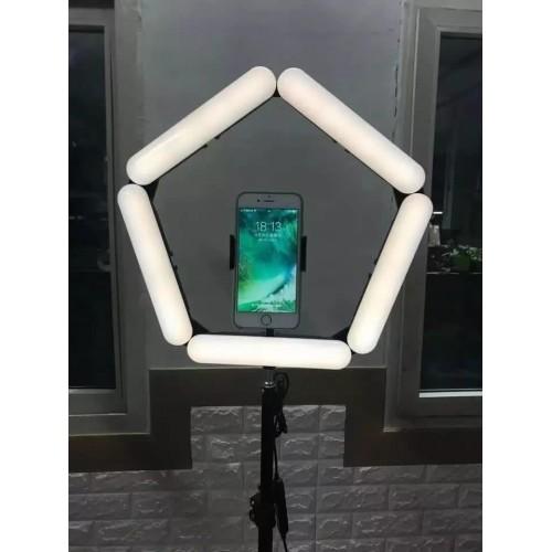 V85 Portable Foldable Mobile Phone 3 Modes Beauty Fill Light (5 Lights)