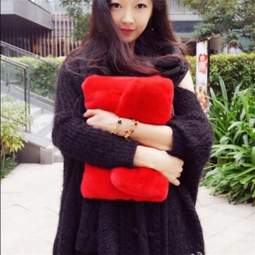 Envelope Women Clutch Plush Bags Fashion Elegant Sweet Lady Bag Casual Handbag Purse Brands Embrayage