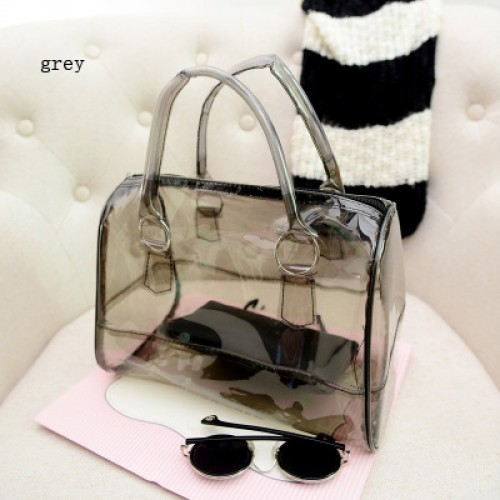Jelly Bag Women Handbag Candy Small Transparent Cute Bags for Girls PVC Summer Package Beach Massage
