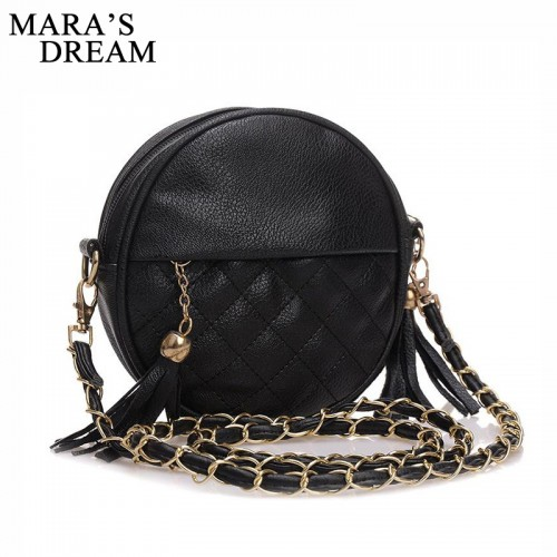 Mara s Dream New Tassel Chain Small Women Bags Fashion Brand PU Leather Crossbody Bags Candy