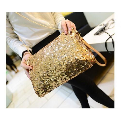 New Dazzling Glitter Sparkling Bling Sequins Evening Party purse Bag Handbag Women Clutch wallet