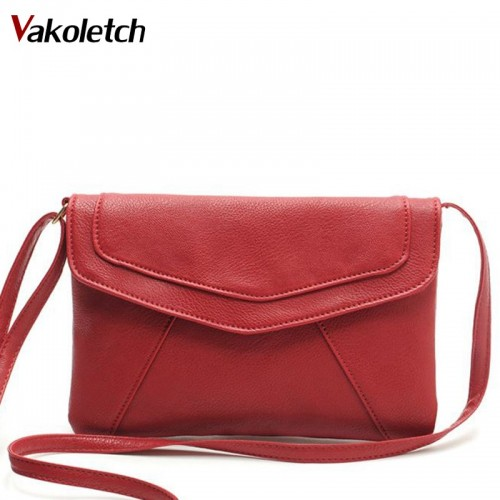 Women Messenger Bags Day Clutches Hot sale Women Leather Bag Tassel Fold Cover Shoulder Crossbody Bag