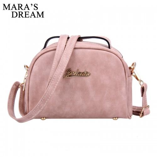 Mara s Dream Women Messenger Bag PU Leather Solid Color Zipper Small Flap Bag Shoulder