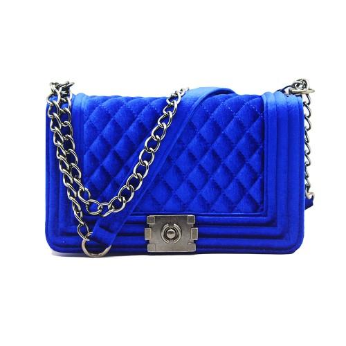 big big handbag quilted chain bag blue Velvet Women Bags pochette sac femme Women Shoulder Bags