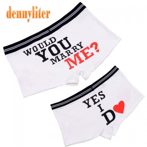 DENNYLITER Hot 1 Set Couple Underwear Soft Modal Panties Cartoon Underwear Men Cuecas Boxer Men