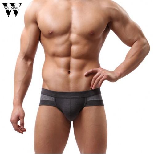 Summer Mens Underwear Low Waist Cotton Briefs Underpants for Men