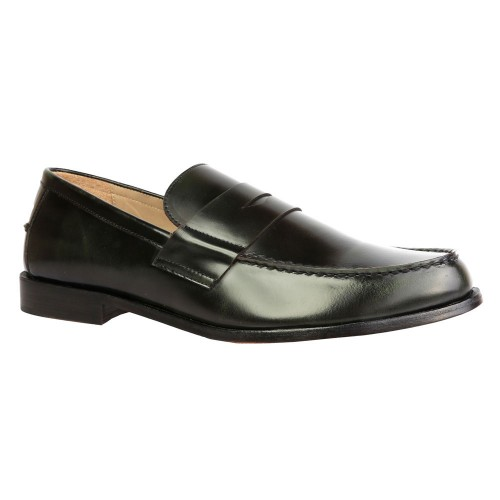 Castillo Leather Genuine Eclipse Green Shoe