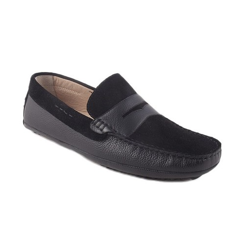 Castillo Genuine Leather Gross Black Shoes